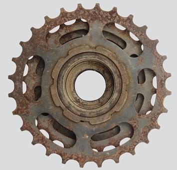 Rust on a bike chain