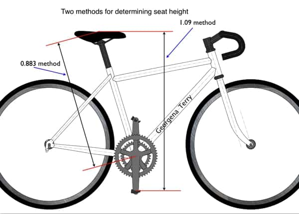 1.09 method for measuring perfect bike saddle height from the pedal