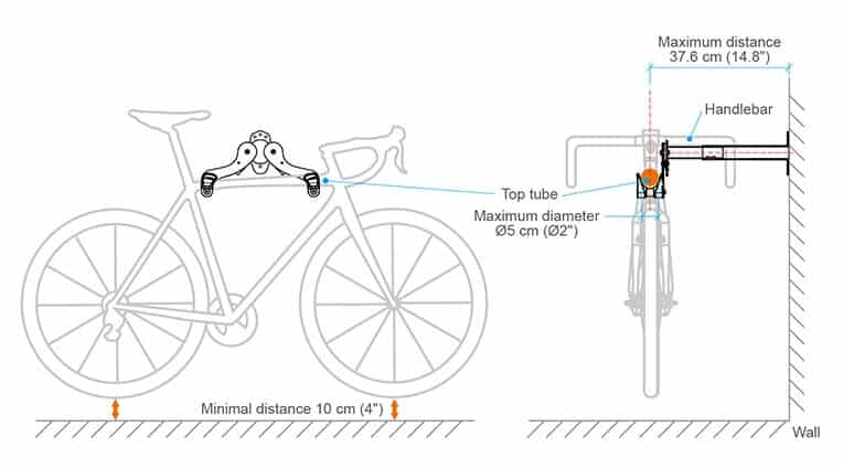 How Ibera IB-ST4 bike rack holds your bike at place