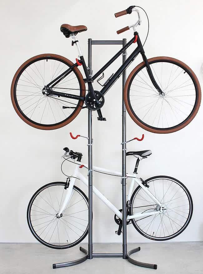 1 2 3 4 5 BWT BIKE BICYCLE CYCLE FLOOR MOUNT RACK STAND SECURE STORAGE BIKES