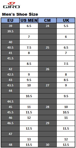 Giro Men's shoe size
