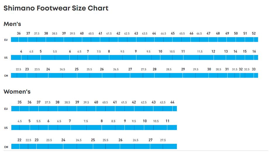 Shimano_Footwear_Size_Chart