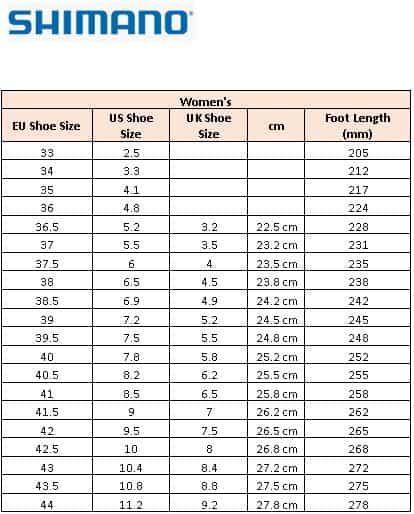 Shimano Women's cycling shoe size