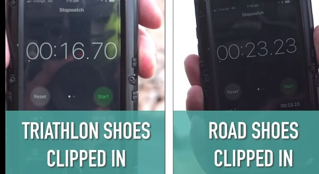 triathlon shoes vs road shoes clipped in time