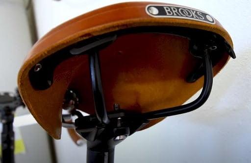 Steel-made rails of Brooks Saddles
