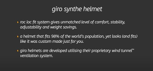 Giro Synthe Helmets
