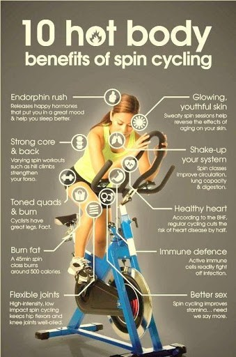 Top 10 benefits of Spin Cycling