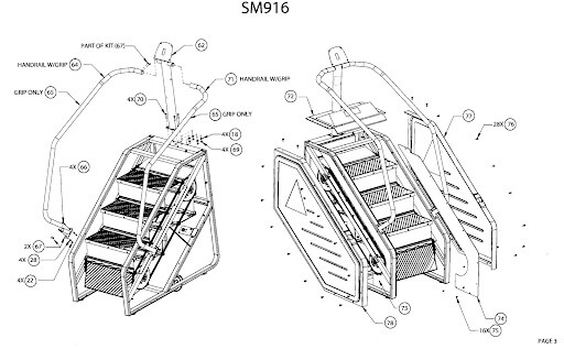 different components of a StairMaster