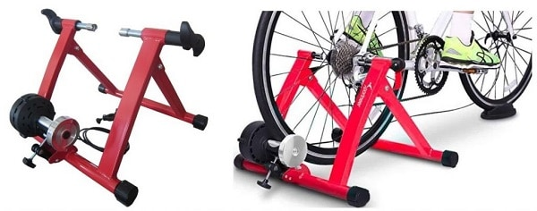 Magnetic bike trainer