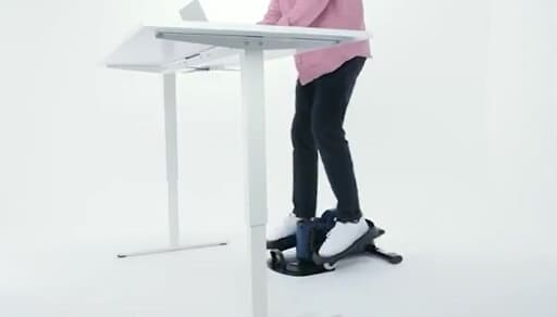 Standing use of elliptical