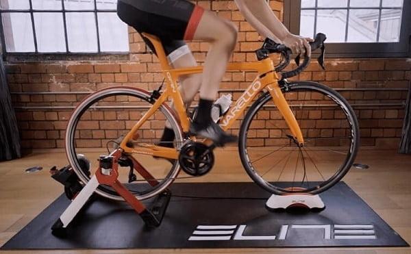 Wheel on trainer