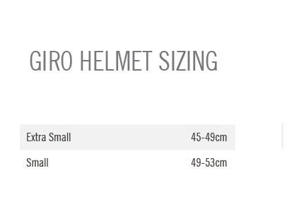 Giro Scamp Youth Helmet size