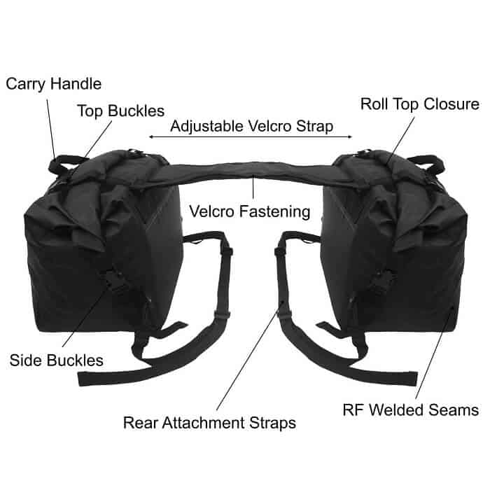 Pannier rack on a mountain bike