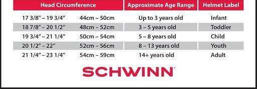 Schwinn Classic Kids Helmet size