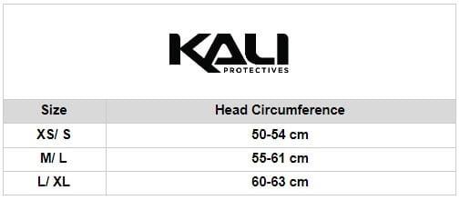 Kali Size chart