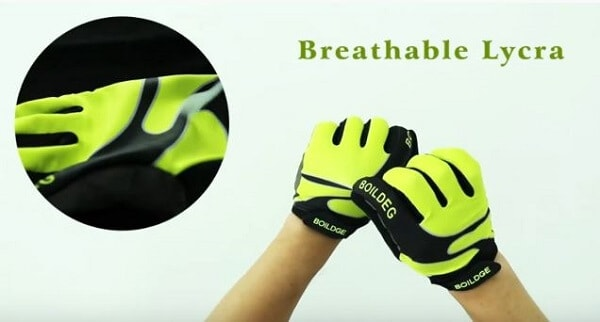 Breathability of mountain bike gloves