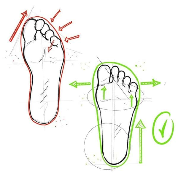 Cycling shoes wider toe box