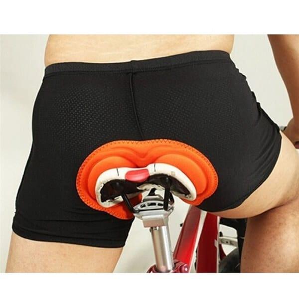 Exercise bike proper padding shorts for comfort