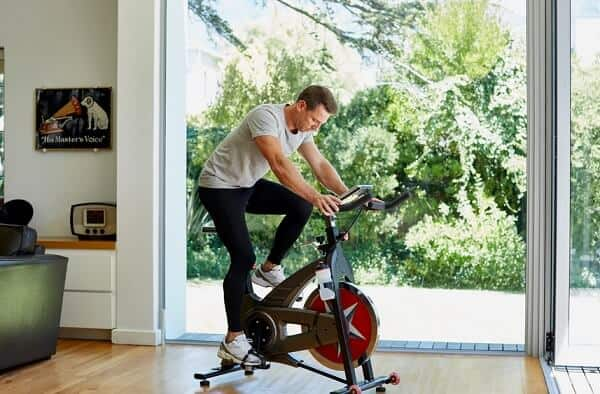 Exercise bike seat good riding position for comfort