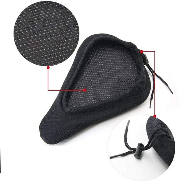 Exercise bike seat seat cover for comfort