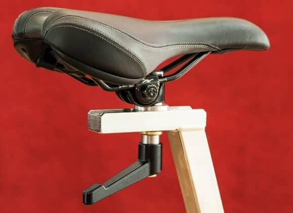 Exercise bike seatpost mounted seat