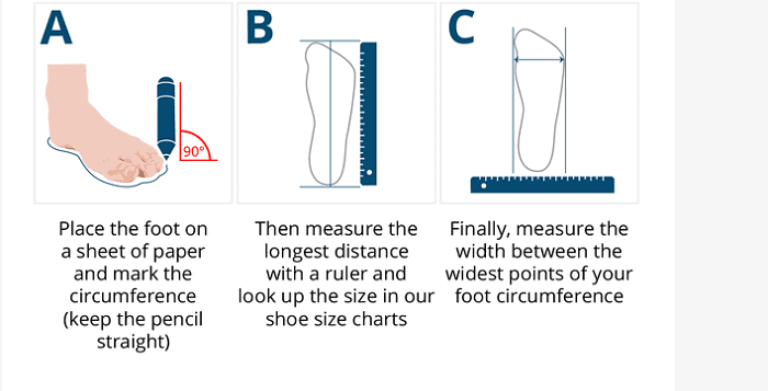 Feet measurement for cycling shoes