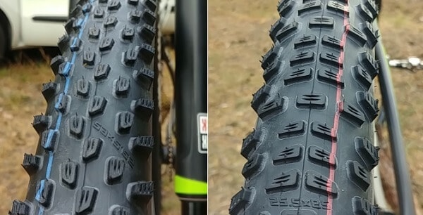 Front vs rear tire