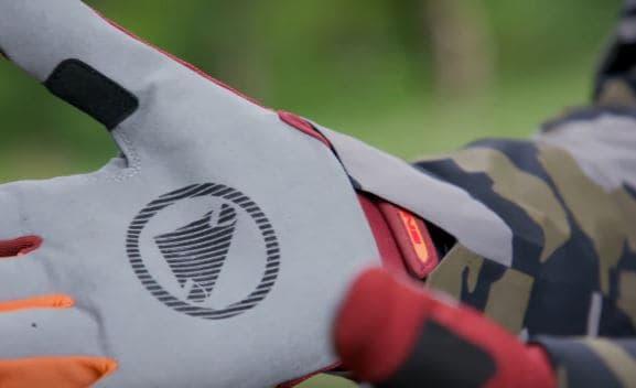 Grip on mountain biking gloves