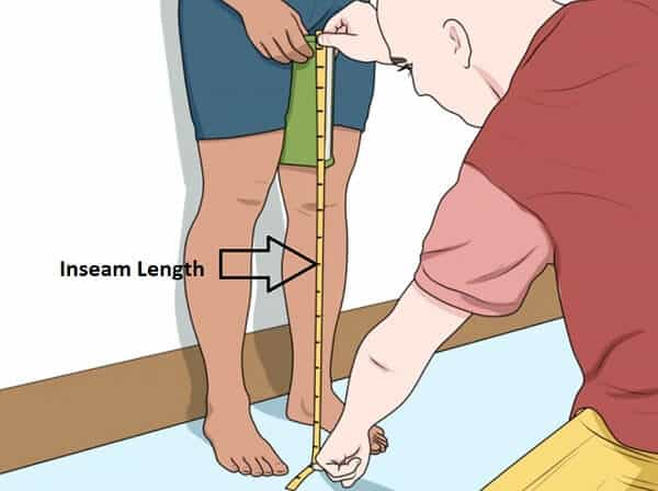 Inseam length for road bike size