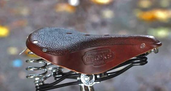 Lether bike saddles