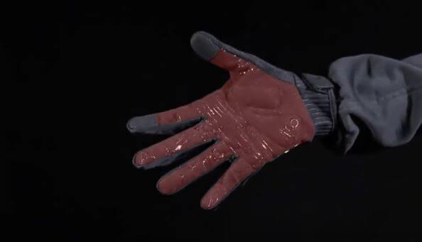 Padding in MTB gloves