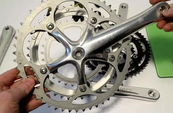 Shimano road bike triple crankset
