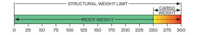 Structural weight limit on bike