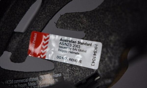 AS NZS 2063 sticker