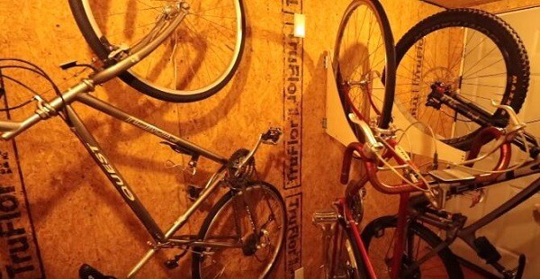 Best way to store bike in bicycle shed
