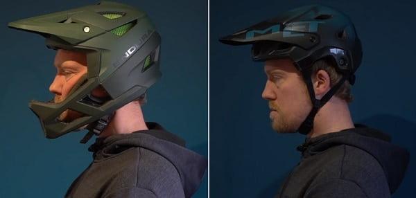 Full face vs open face helmet