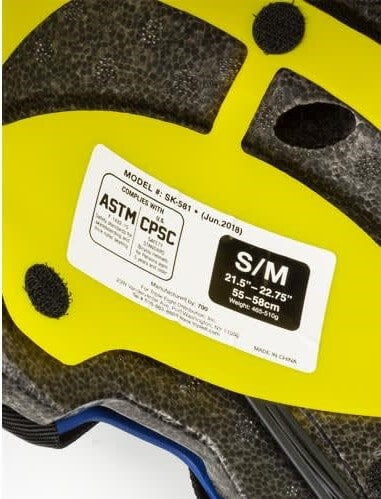 Helmet with ASTM and CPSC sticker
