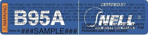 Snell B95 sticker