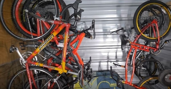 Wall mounts are best to store bikes in shed