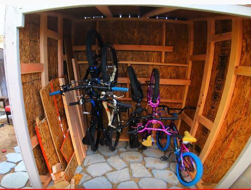 You can store multiple bikes if your shed size is large enough