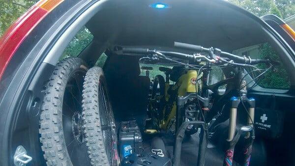 Bike in a Honda CR-V