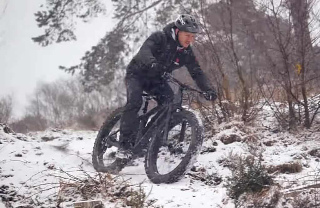 Fat biking on snow