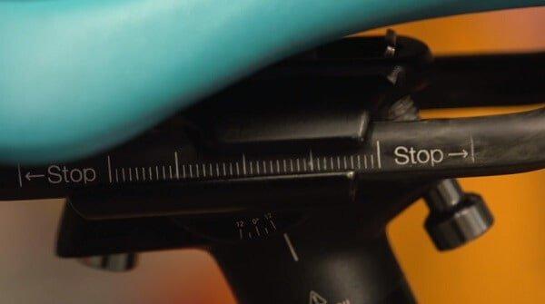 Saddle rail with markings