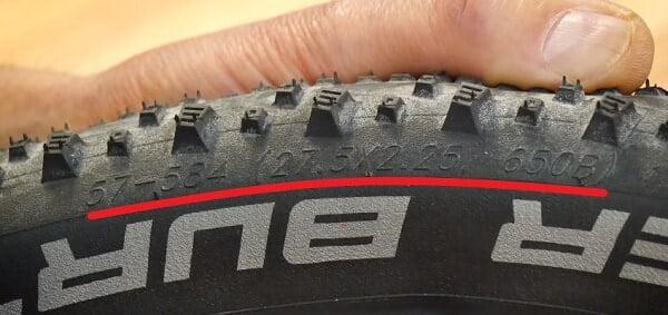 Tire sizing