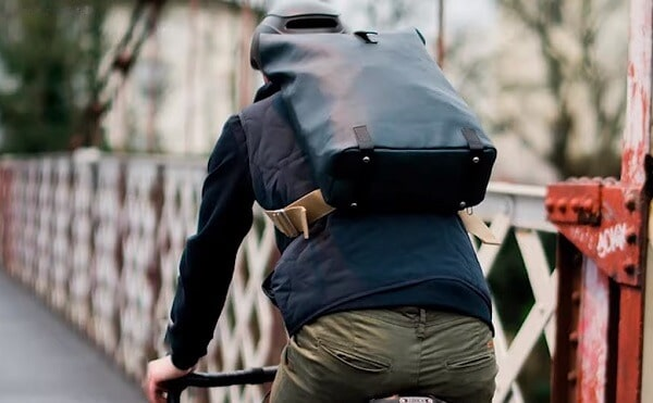 Commuting with a backpack