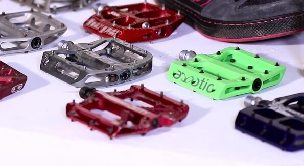 Metal and plastic pedals