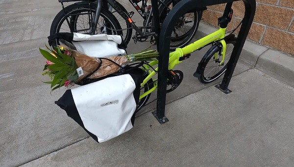 bike panniers used for carrying grocery shopping