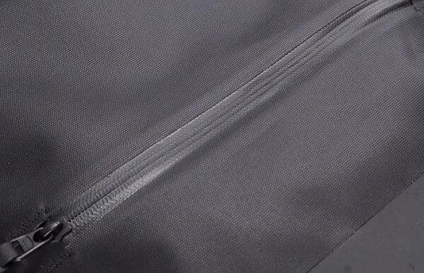 Water resistant coated zipper